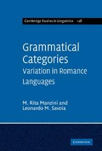 Cover Grammatical Categories