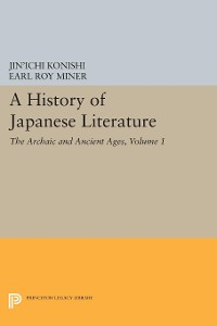 Cover A History of Japanese Literature, Volume 1