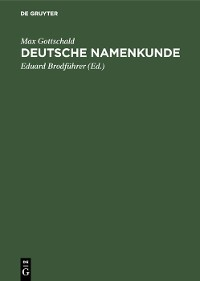 Cover Deutsche Namenkunde