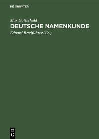 Cover Deutsche Namenkunde