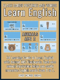 Cover Animals ABC 2 - Flash Cards Pictures and Words Learn English
