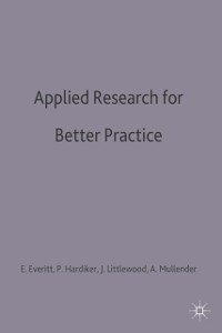 Cover Applied Research for Better Practice