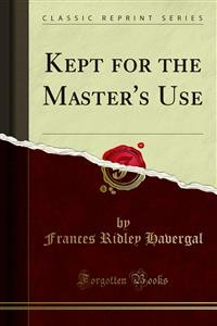 Cover Kept for the Master's Use