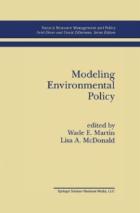 Cover Modeling Environmental Policy