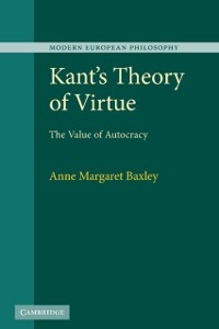 Cover Kant's Theory of Virtue