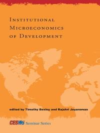 Cover Institutional Microeconomics of Development