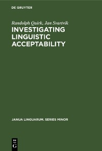 Cover Investigating Linguistic Acceptability