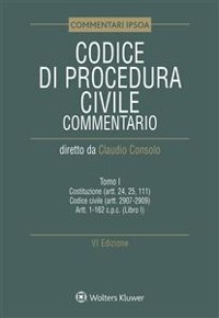 Cover Tomo I - Codice di Procedura Civile Commentato