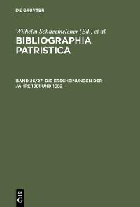 Cover Die Erscheinungen der Jahre 1981 und 1982