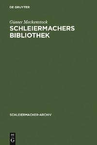 Cover Schleiermachers Bibliothek