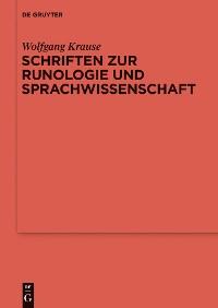 Cover Schriften zur Runologie und Sprachwissenschaft