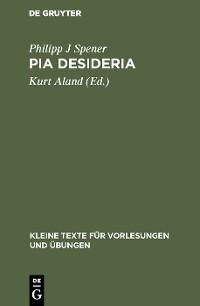 Cover Pia Desideria
