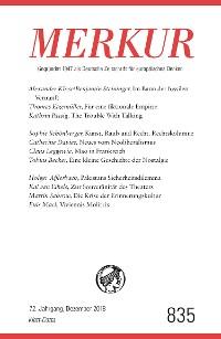 Cover MERKUR Gegründet 1947 als Deutsche Zeitschrift für europäisches Denken - 2018-12