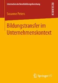 Cover Bildungstransfer im Unternehmenskontext