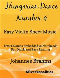 Cover Hungarian Dance Number 4 Easy Violin Sheet Music