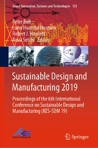 Cover Sustainable Design and Manufacturing 2019