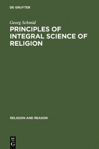 Cover Principles of Integral Science of Religion