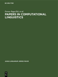 Cover Papers in Computational Linguistics