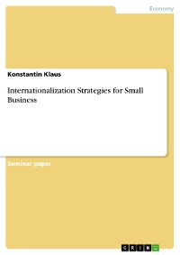 Cover Internationalization Strategies for Small Business