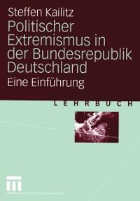 Cover Politischer Extremismus in der Bundesrepublik Deutschland