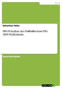 Cover SWOT-Analyse des Fußballvereins TSG 1899 Hoffenheim