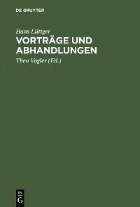 Cover Vorträge und Abhandlungen