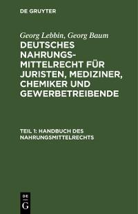 Cover Handbuch des Nahrungsmittelrechts