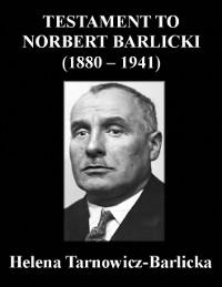 Cover Testament to Norbert Barlicki (1880-1941)