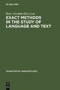 Cover Exact Methods in the Study of Language and Text