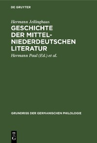 Cover Geschichte der mittelniederdeutschen Literatur