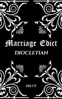 Cover Diocletian's Marriage Edict