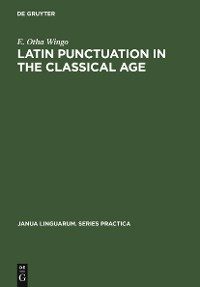 Cover Latin Punctuation in the Classical Age