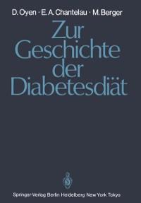 Cover Zur Geschichte der Diabetesdiat