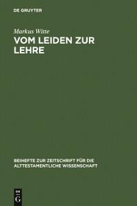 Cover Vom Leiden zur Lehre