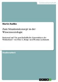 Cover Zum Situationskonzept in der Wissenssoziologie