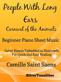 Cover People With Long Ears Carnival of the Animals Beginner Piano Sheet Music