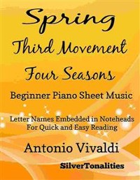 Cover Spring Third Movement the Four Seasons Beginner Piano Sheet Music