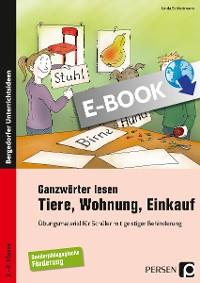 Cover Ganzwörter lesen: Tiere, Wohnung, Einkauf