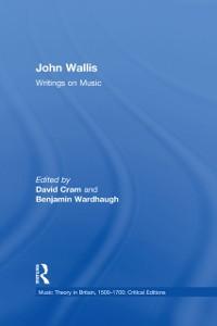 Cover John Wallis: Writings on Music