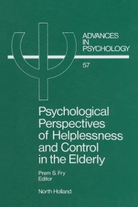 Cover Psychological Perspectives of Helplessness and Control in the Elderly