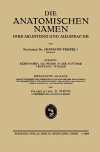 Cover Die Anatomischen Namen