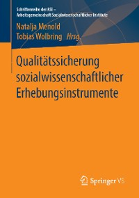 Cover Qualitätssicherung sozialwissenschaftlicher Erhebungsinstrumente