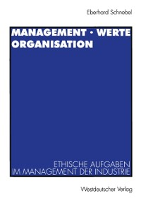 Cover Management * Werte Organisation