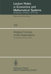Cover Analyse Convexe et Ses Applications