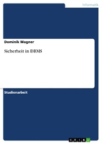 Cover Sicherheit in DBMS