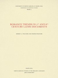 Cover Romance Trends in 7th and 8th Century Latin Documents