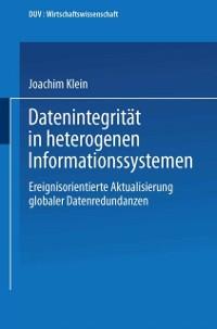 Cover Datenintegritat in heterogenen Informationssystemen