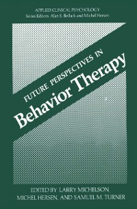 Cover Future Perspectives in Behavior Therapy
