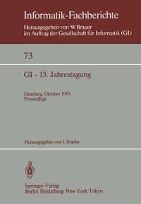 Cover GI - 13. Jahrestagung