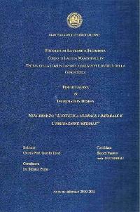 """Cover New Design: """"L'Estetica Globale i database e l'ibridazione  mediale"""""""